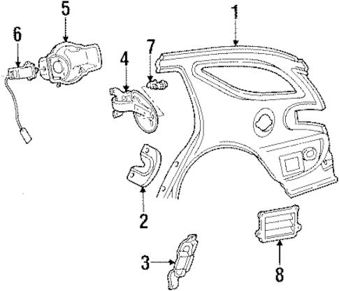 Fuel Door for 1997 Mercury Sable