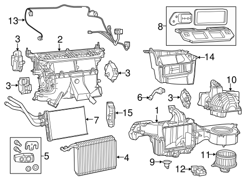 Evaporator & Heater Components for 2018 Dodge Charger