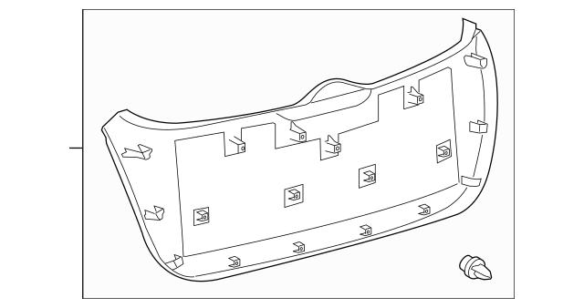 2013-2015 Toyota Venza Lower Trim Panel 64780-0T011-C0