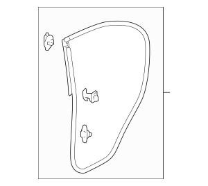 2006-2011 Honda WEATHERSTRIP, LEFT[drvr] REAR DOOR 72850