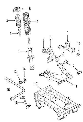 REAR SUSPENSION for 2002 Mazda Miata