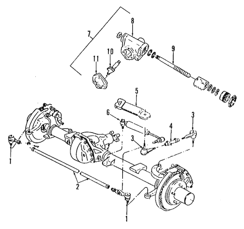 Steering Gear & Linkage for 1988 Chevrolet K2500 Pickup