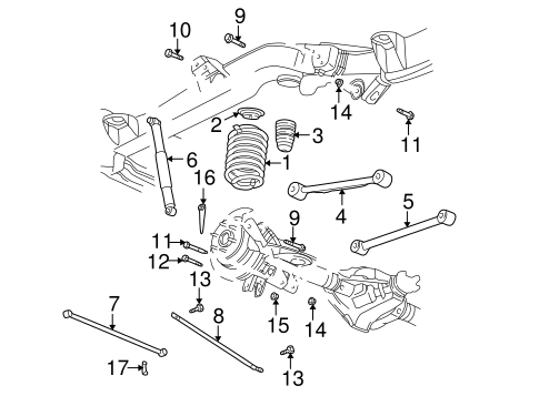 OEM 2004 Chevrolet SSR Rear Suspension Parts