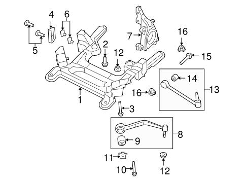 OEM 2009 Pontiac G8 Suspension Components Parts