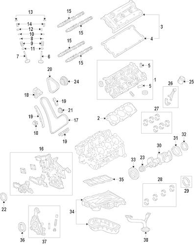 Genuine OEM MOUNTS Parts for 2008 Toyota Highlander Base
