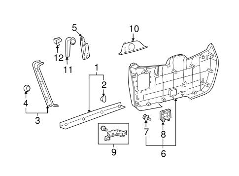 Genuine OEM Interior Trim Parts for 2008 Toyota Highlander