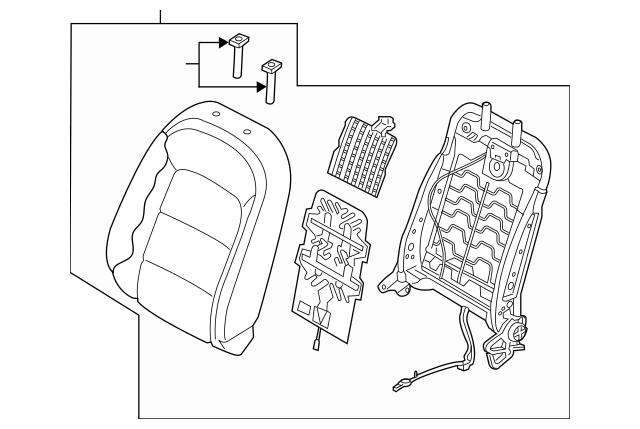 2015-2016 Kia Forte Koup Seat Back Assembly 88400-A7501K3F