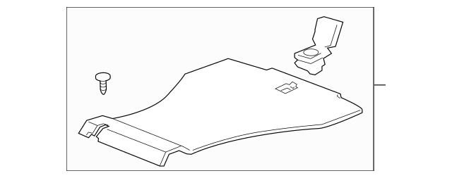 2009-2014 Acura TSX SEDAN Floor Mat Assembly, Trunk *NH85L