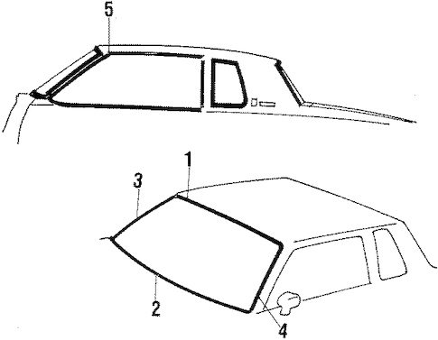 EXTERIOR MOLDINGS Parts for 1985 Oldsmobile Cutlass Supreme