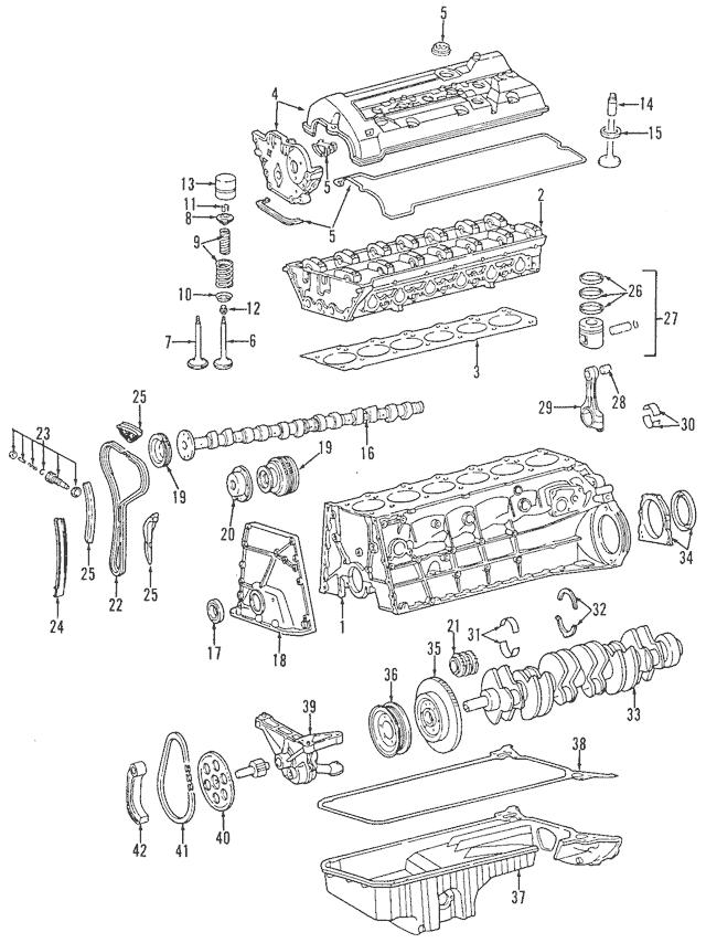 1993-1999 Mercedes-Benz Exhaust Camshaft 104-050-85-01