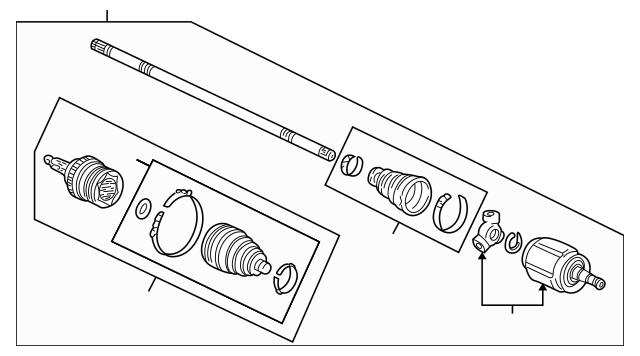 1999-2004 Acura RL SEDAN Drive Shaft Assembly, R 44305-SZ3