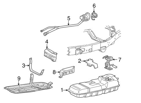 OEM 1997 Ford Explorer Fuel System Components Parts