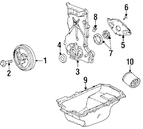 ENGINE PARTS Parts for 1997 Saturn SL1