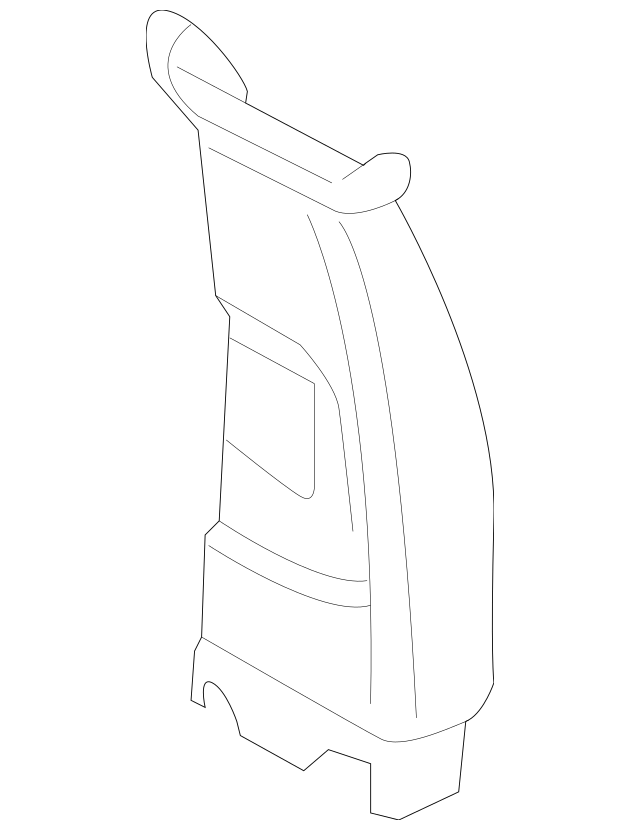 2014-2018 BMW X5 Upper Center Pillar Trim 51-44-8-058-895