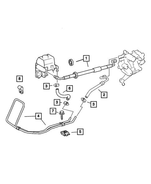 Power Steering Hoses for 2005 Chrysler Crossfire