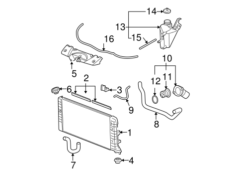 Radiator & Components for 2008 Chevrolet Impala