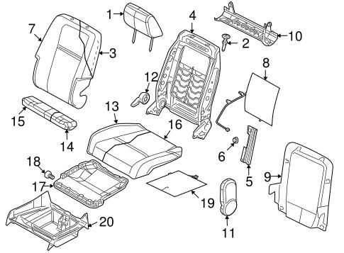 Passenger Seat Components for 2010 Dodge Journey