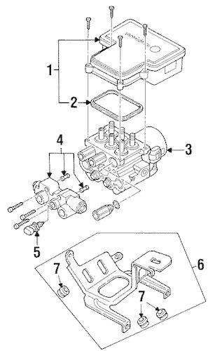 ANTI-LOCK BRAKES for 1997 GMC Savana 3500