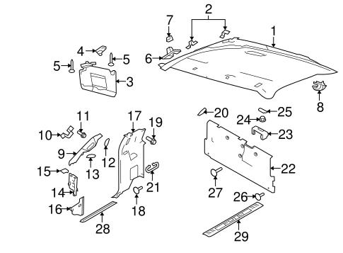 2009-2014 Ford F-150 Sun Visor Holder Retainer Clip Camel