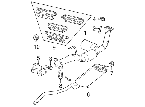 EXHAUST COMPONENTS for 2008 Jeep Commander
