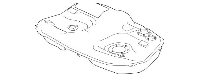 2009-2010 Mitsubishi Galant Fuel Tank Assembly 1700A791