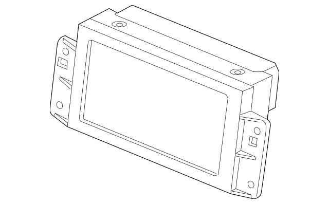 Genuine OEM 2010-2012 Volvo XC60 Display Unit 36002629