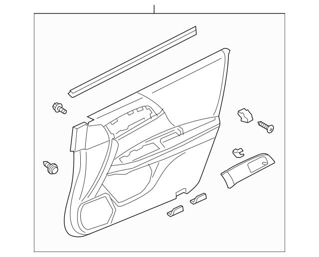 2014-2015 Honda ACCORD SEDAN Lining Assembly, L Front Door
