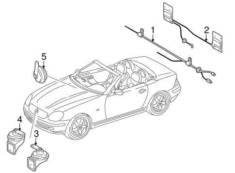Antenna & Radio for 1999 Mercedes-Benz SLK 230