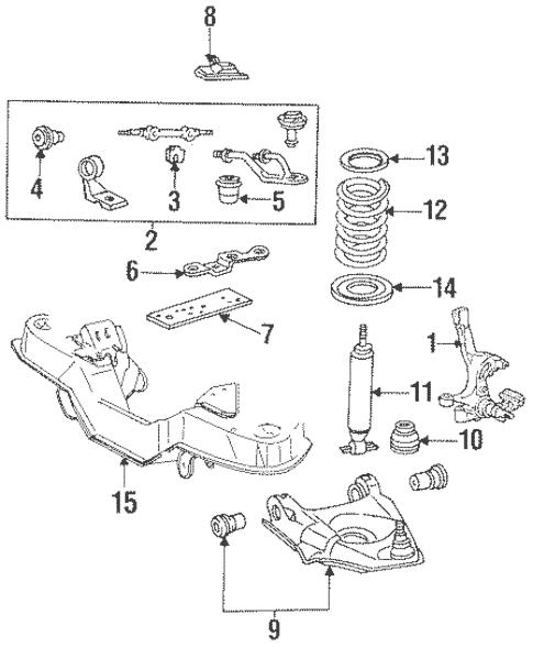 OEM 1996 Ford Aerostar Suspension Components Parts