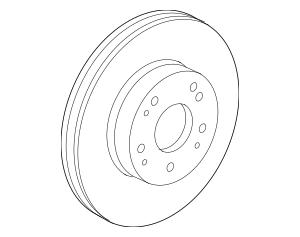2014-2015 Acura ILX SEDAN Disk, Front Brake 45251-TA5-A00