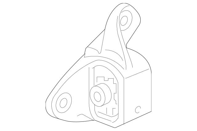 Genuine 2016 Honda PILOT 5-DOOR Rubber Assembly
