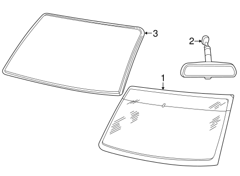 Glass, Windows & Related Components for 2002 Ford Explorer