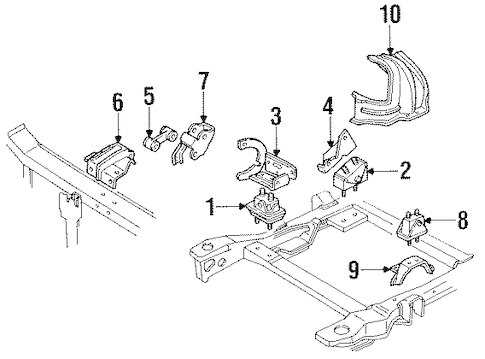 OEM 1990 Buick Regal Engine & Trans Mounting Parts