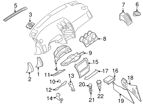 Instrument Panel Components for 2008 Nissan Altima