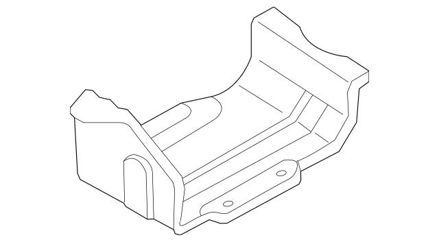 2000-2001 Mazda MPV Vapor Canister Bracket LC62-42-59Y