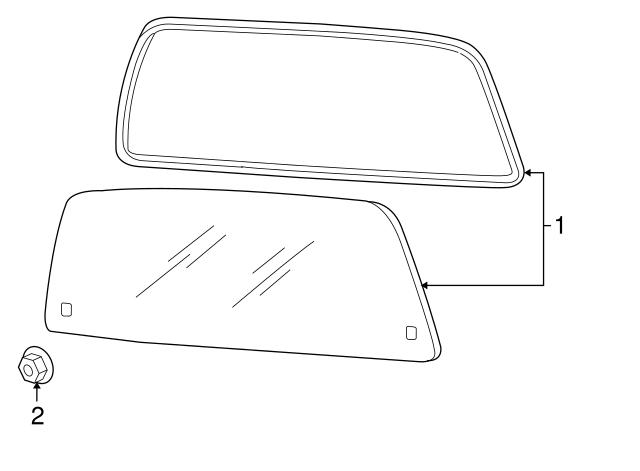 2007-2010 Ford Explorer Sport Trac Glass 7A2Z-3542006-A