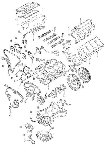 ENGINE for 2000 Infiniti I30