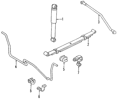 REAR SUSPENSION for 2001 Jeep Cherokee