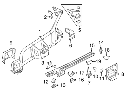 Carrier & Components for 1998 Mitsubishi Montero Sport