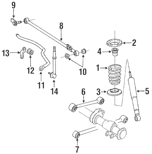 Genuine OEM Rear Suspension Parts for 1992 Toyota 4Runner