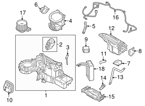 Evaporator & Heater Components for 2010 Lincoln Navigator