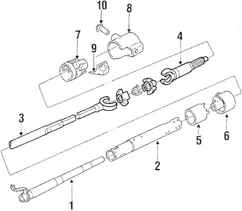 OEM Steering Column Assembly for 1987 Chevrolet Monte