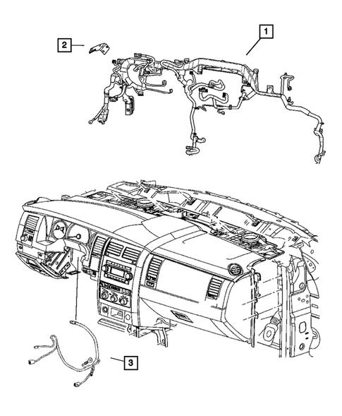 Wiring-Instrument Panel for 2007 Chrysler Aspen
