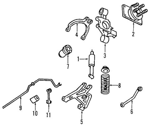 REAR SUSPENSION Parts for 1998 Cadillac DeVille