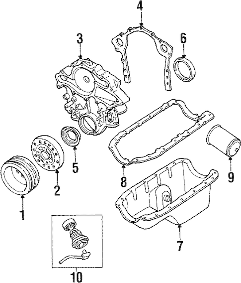 Engine Parts for 1998 Mercury Sable