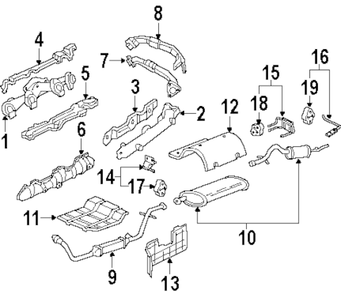 EXHAUST COMPONENTS for 2002 Oldsmobile Silhouette