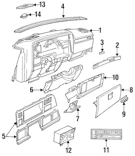 Radio for 1992 Chrysler New Yorker|5269412 : MyMoparParts