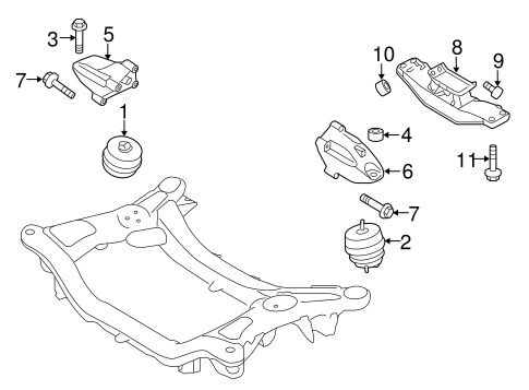 Genesis Coupe Engine/Engine & Trans Mounting Parts