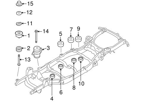 FRAME COMPONENTS for 2002 Ford Explorer