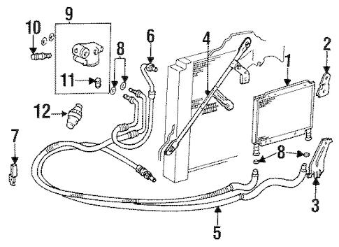 OEM 1994 Cadillac Eldorado Engine Oil Cooler Parts